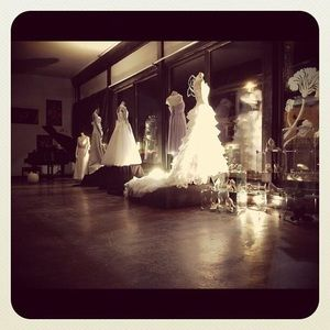 Alena Feda Designer Dresses Alena Fede Designer White Chiffon Wedding Dress 6 Poshmark